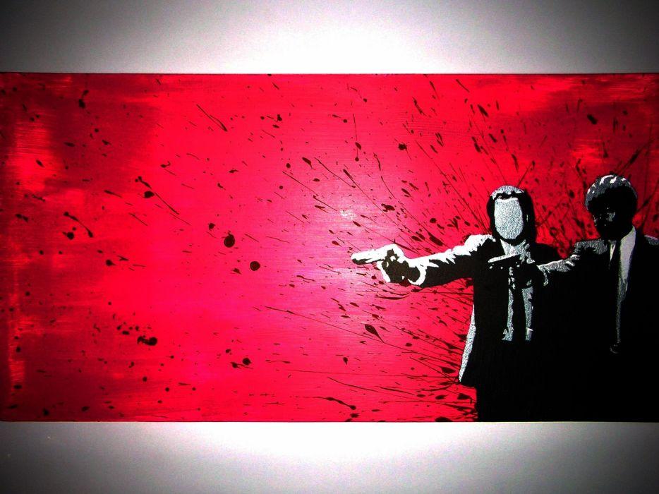 PULP FICTION crime thriller drama comedy wallpaper