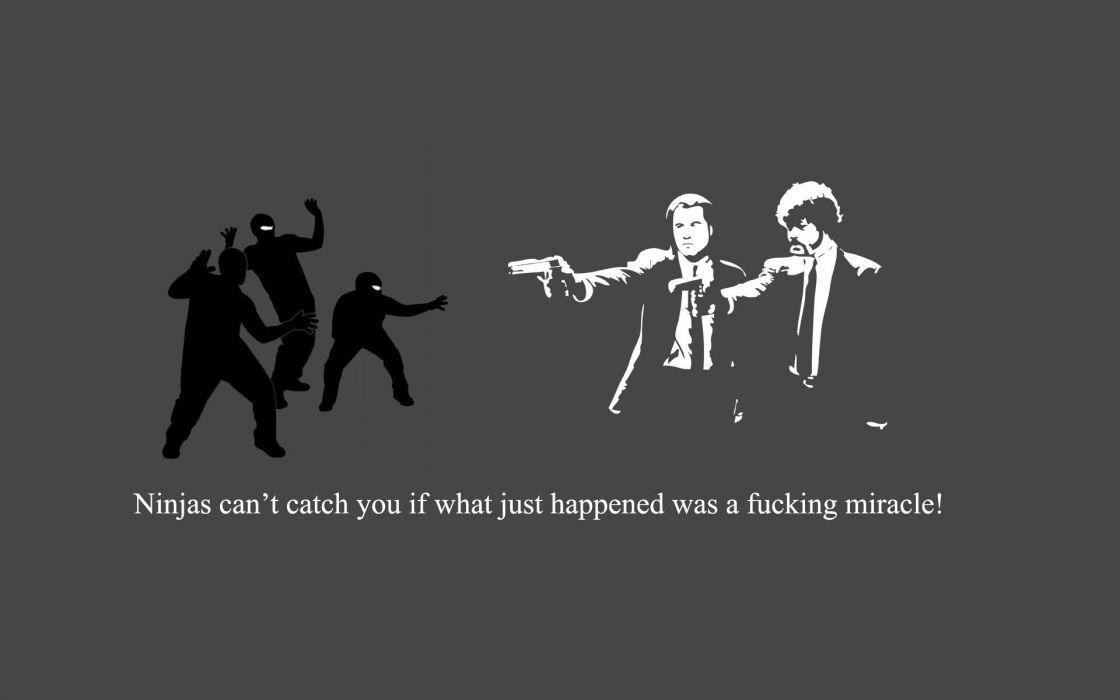 PULP FICTION crime thriller drama comedy ninja wallpaper