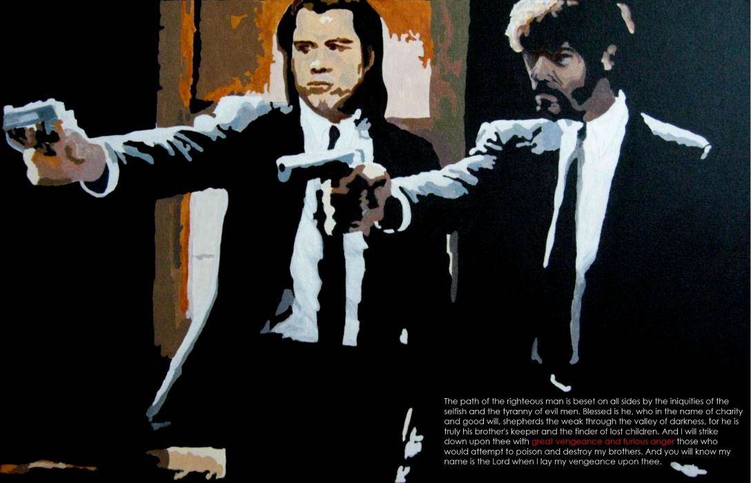 PULP FICTION crime thriller drama comedy wallpaper
