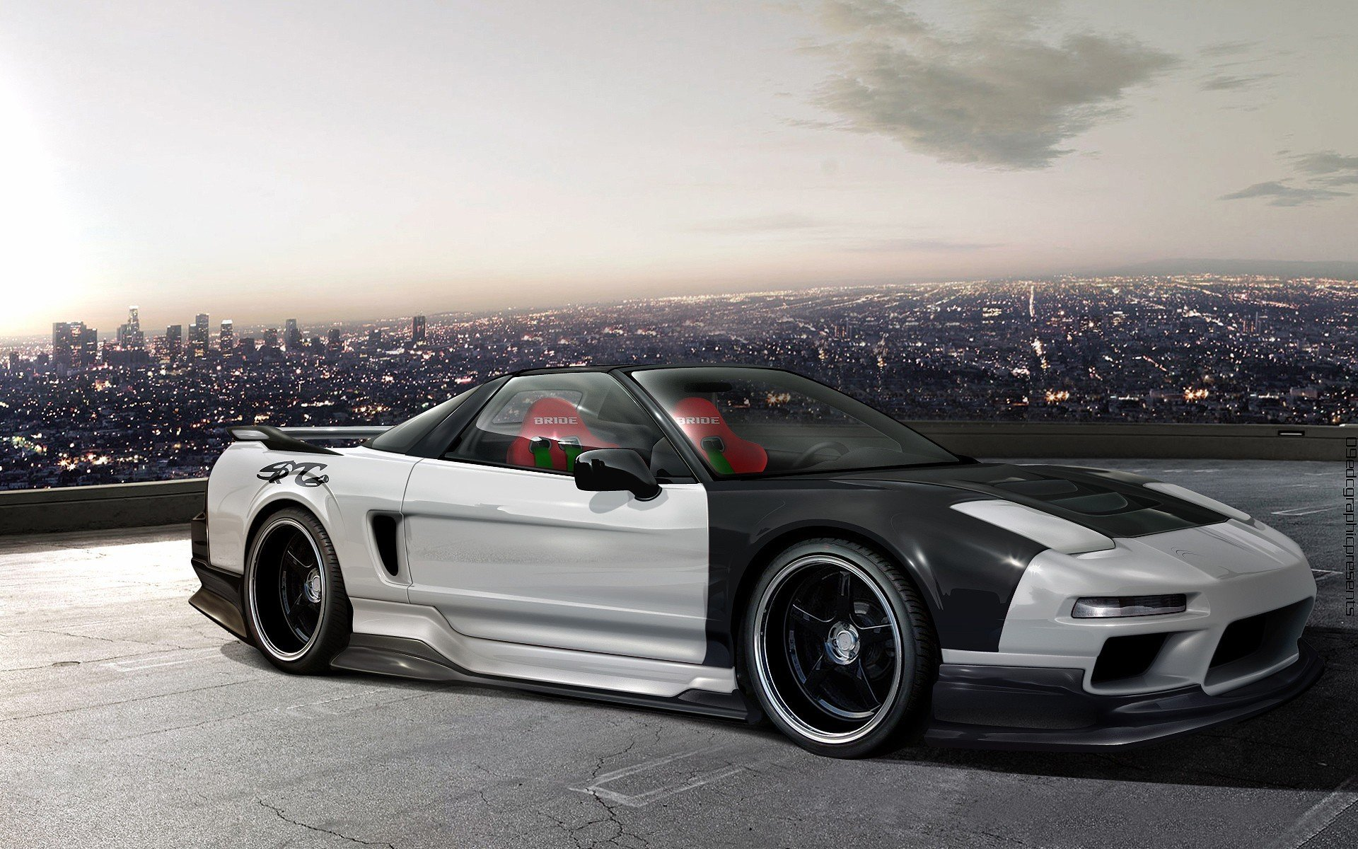 Acura-nsx honda-nsx coupe tuning veilside supercars cars japan body kit wallpaper | 1920x1200 ...
