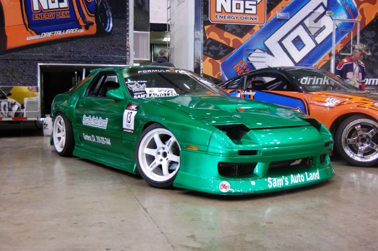 Mazda-rx7 tuning coupe veilside boby kit japan cars supercars wallpaper