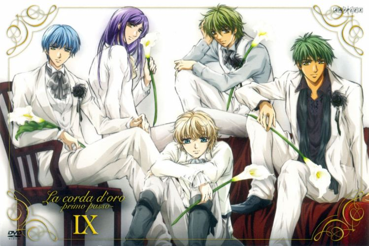anime series la corda doro character cool guys flower white suit wallpaper