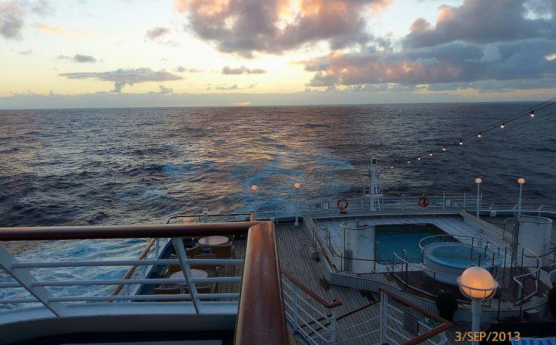 AMADEA sunset water ocean ship wallpaper