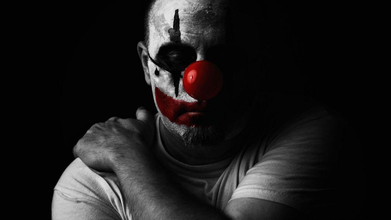HALLOWEEN clown dark wallpaper