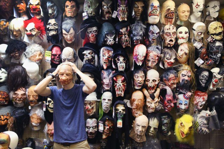 HALLOWEEN mask dark horror wallpaper