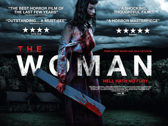THE-WOMAN horror dark crime drama woman blood wallpaper