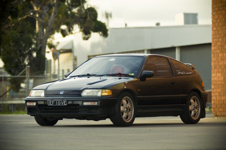 honda-CRX coupe tuning japan cars wallpaper