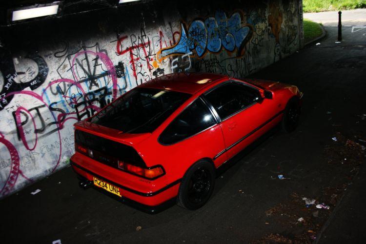 honda-CRX coupe tuning japan cars wallpaper