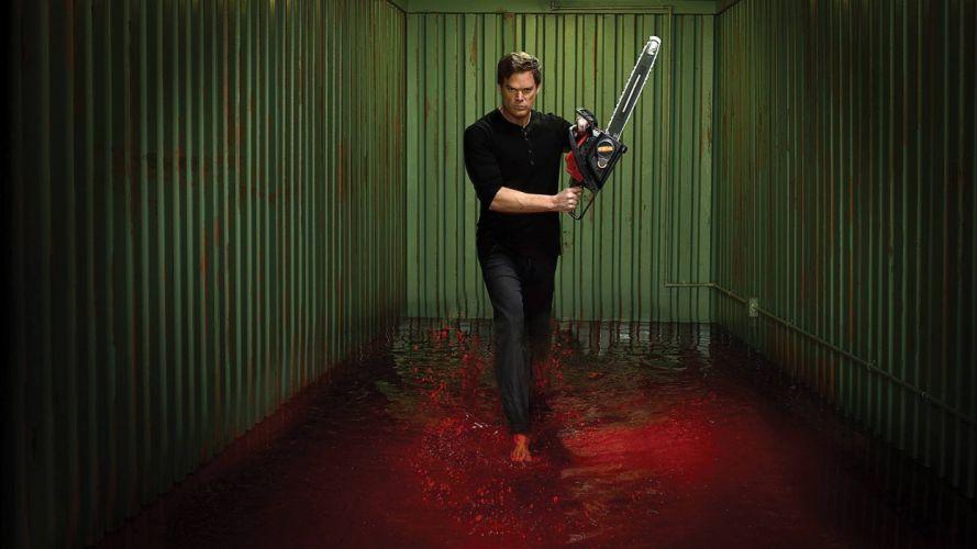DEXTER crime drama mystery series killer comedy horror dark blood wallpaper