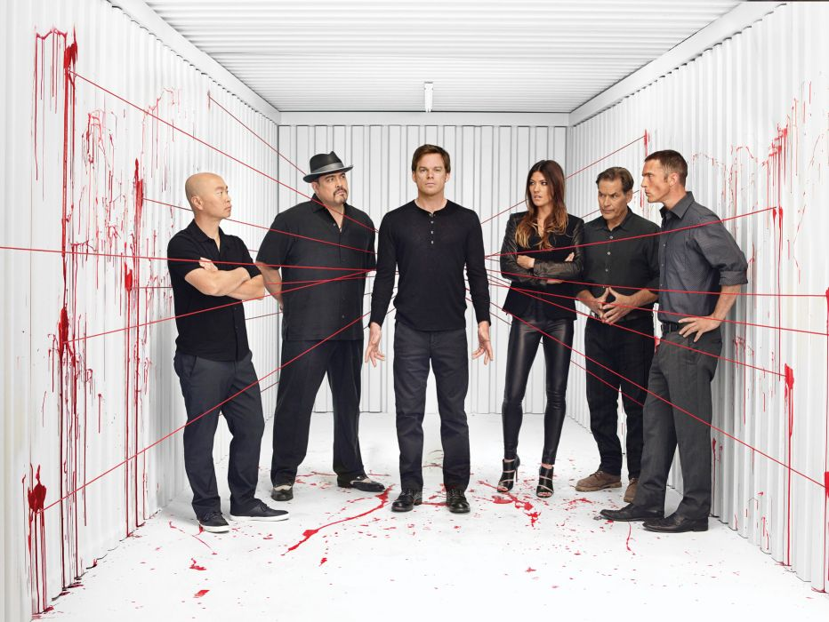 DEXTER crime drama mystery series killer comedy horror dark blood wallpaper