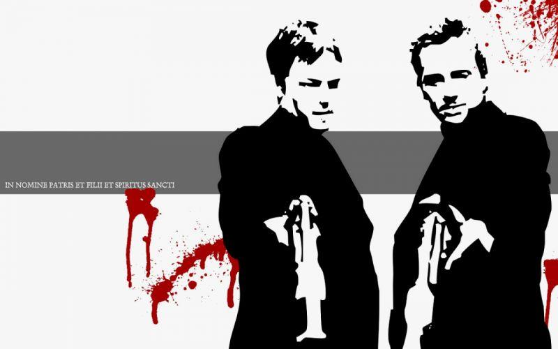 BOONDOCK SAINTS action crime thriller weapon gun pistol blood wallpaper