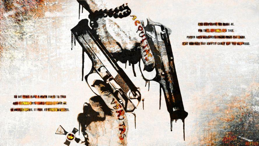 BOONDOCK SAINTS action crime thriller weapon gun pistol wallpaper