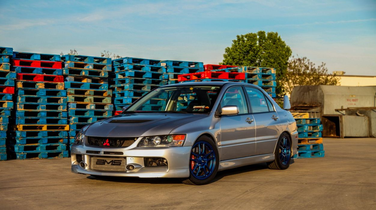 mitsubishi lancer evolution sportcars rallycars tuning japan sedan cars wallpaper
