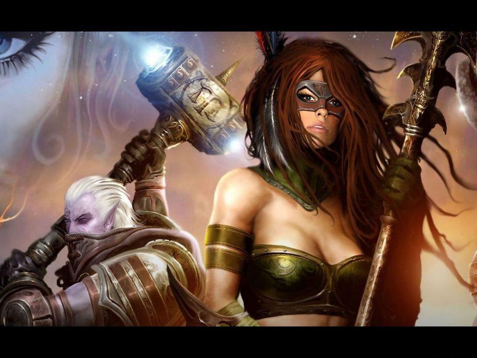 WARRIOR - sword mask girl wallpaper
