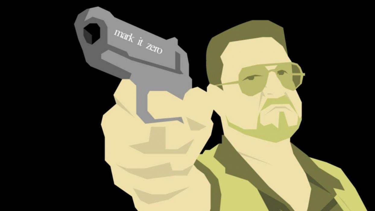 THE BIG LEBOWSKI comedy crime weapon gun pistol wallpaper