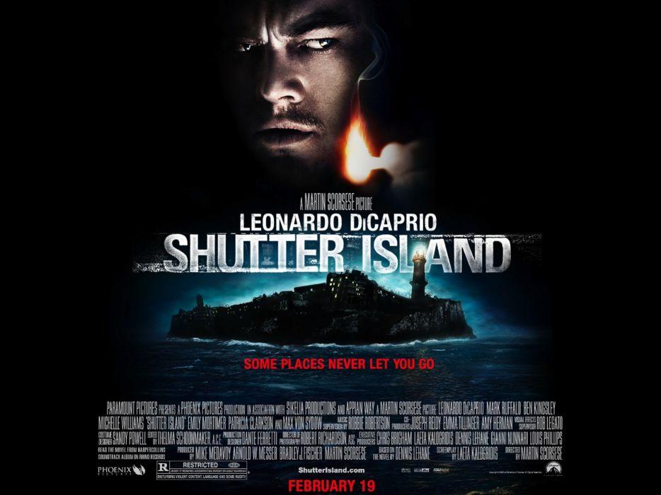 SHUTTER ISLAND dicaprio mystery thriller crime horror wallpaper