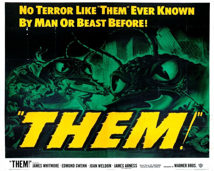 THEM horror poster t-h-e-m sci-fi thriller wallpaper