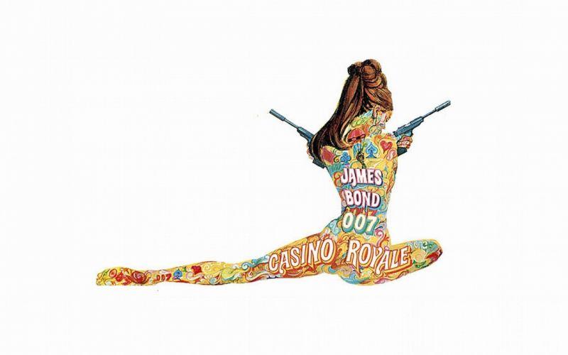 CASINO ROYALE bond action adventure thriller weapon gun pistol psychedelic wallpaper
