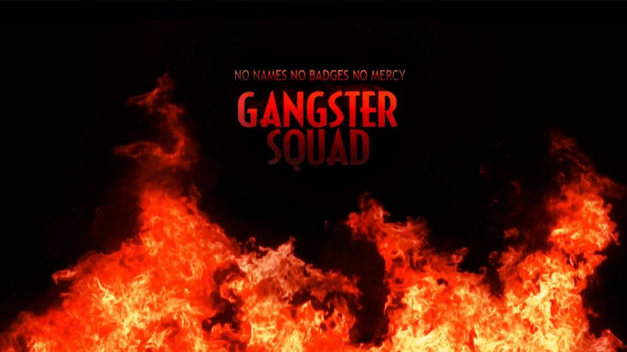 GANGSTER SQUAD mafia action crime drama penn fire wallpaper