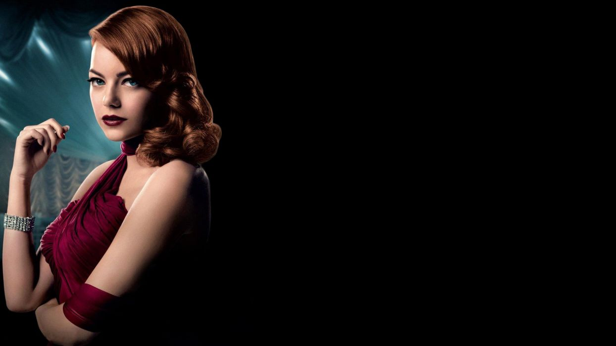 GANGSTER SQUAD mafia action crime drama penn emma stone actress wallpaper