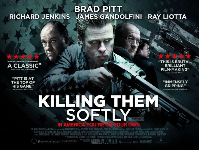 KILLING THEM SOFTLY kill pitt crime thriller noir weapon gun wallpaper