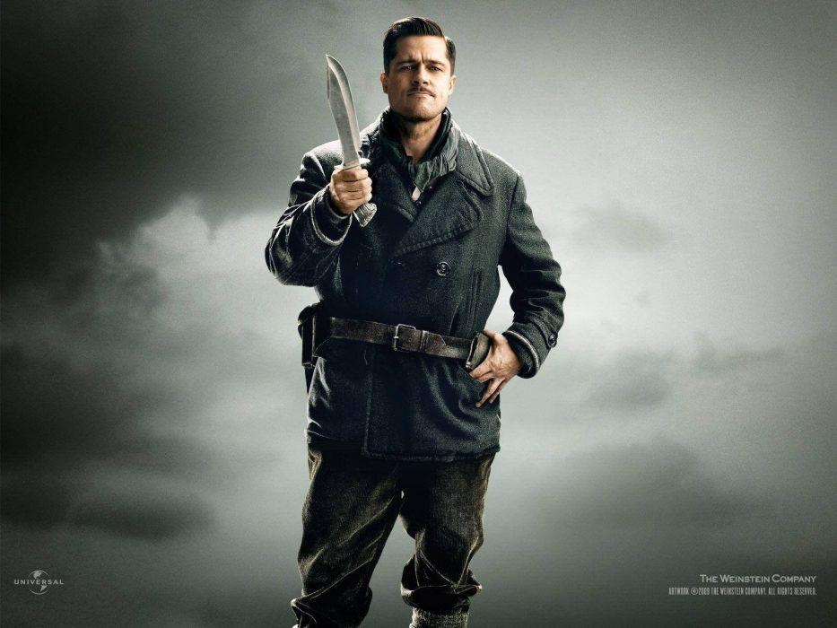 INGLOURIOUS BASTERDS adventure drama war military pitt wwll weapon gun wallpaper