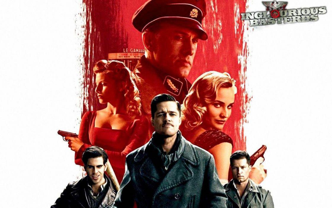 INGLOURIOUS BASTERDS adventure drama war military pitt wwll wallpaper