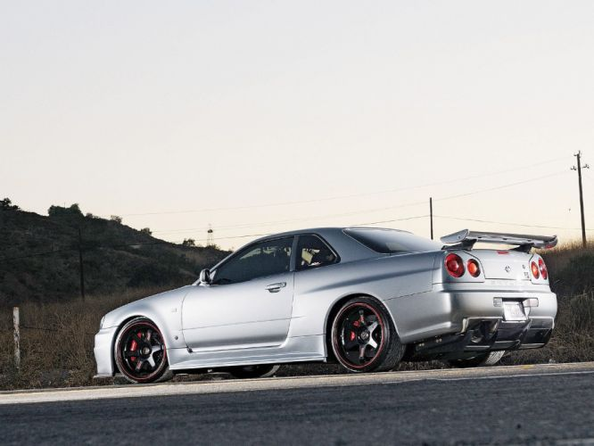 Nissan R34 Skyline GTR supercars cars coupe tuning japan wallpaper