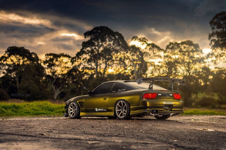 nissan 180SX coupe tuning cars japan wallpaper