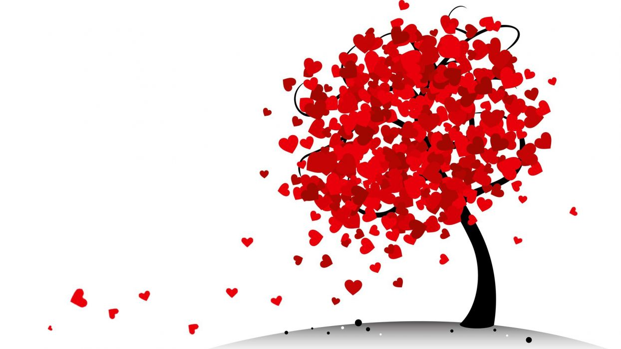 Abstraction Love tree heart Valentine heart St foliage wallpaper   1920x1080   502003   WallpaperUP