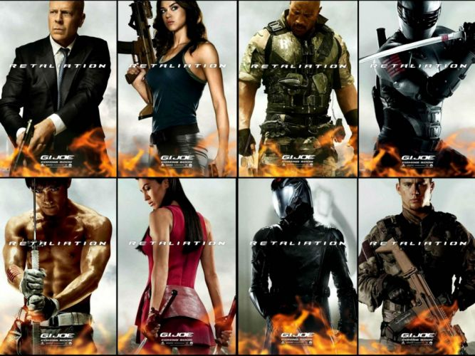 G-I JOE RETALIATION action adventure sci-fi wallpaper