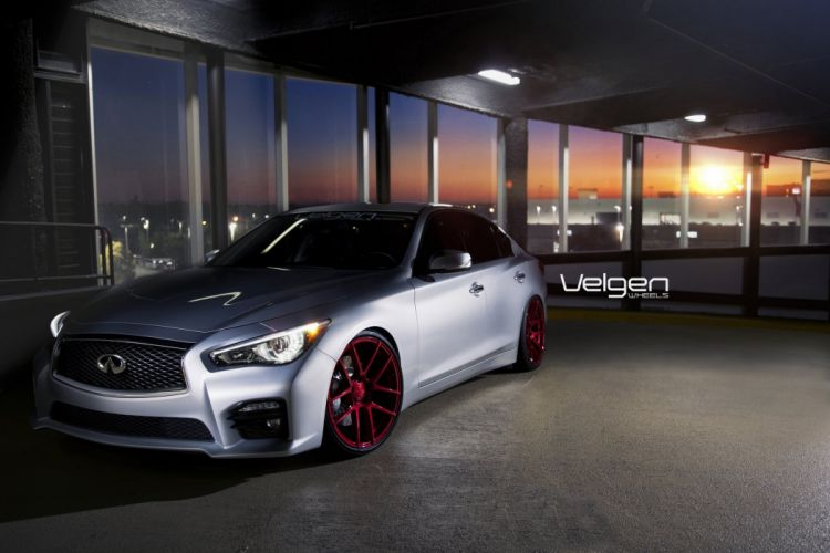 Infiniti Q50s cars tuning Velgen Wheels wallpaper