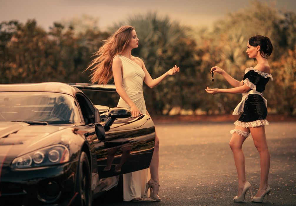 Dodge Luxury life women Viper girls wallpaper