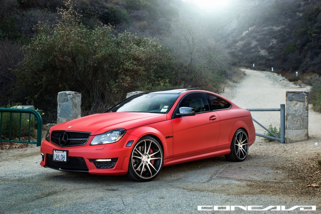 Mercedes Benz C63 AMG Tuning concavo wheels cars wallpaper