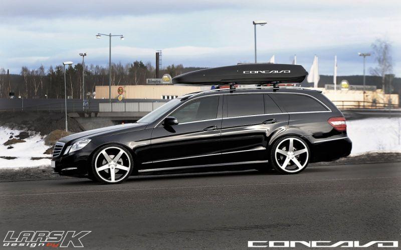 Mercedes Benz E220 CDI Tuning concavo wheels cars wallpaper