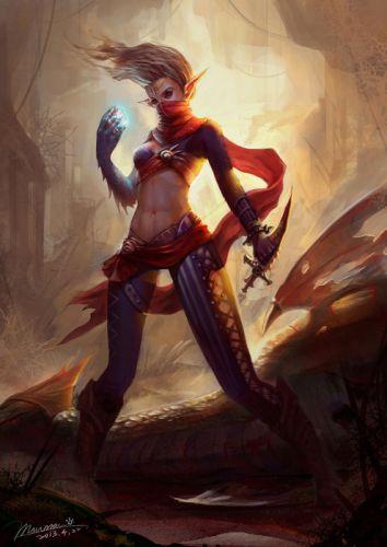 Assassin fantasy elf girl witch wallpaper