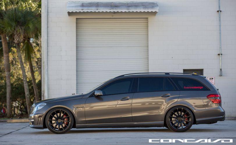 Mercedes Benz E63 Tuning concavo wheels cars wallpaper