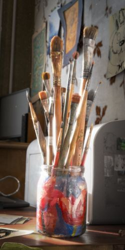 The Brushes 3D painting wallpaper
