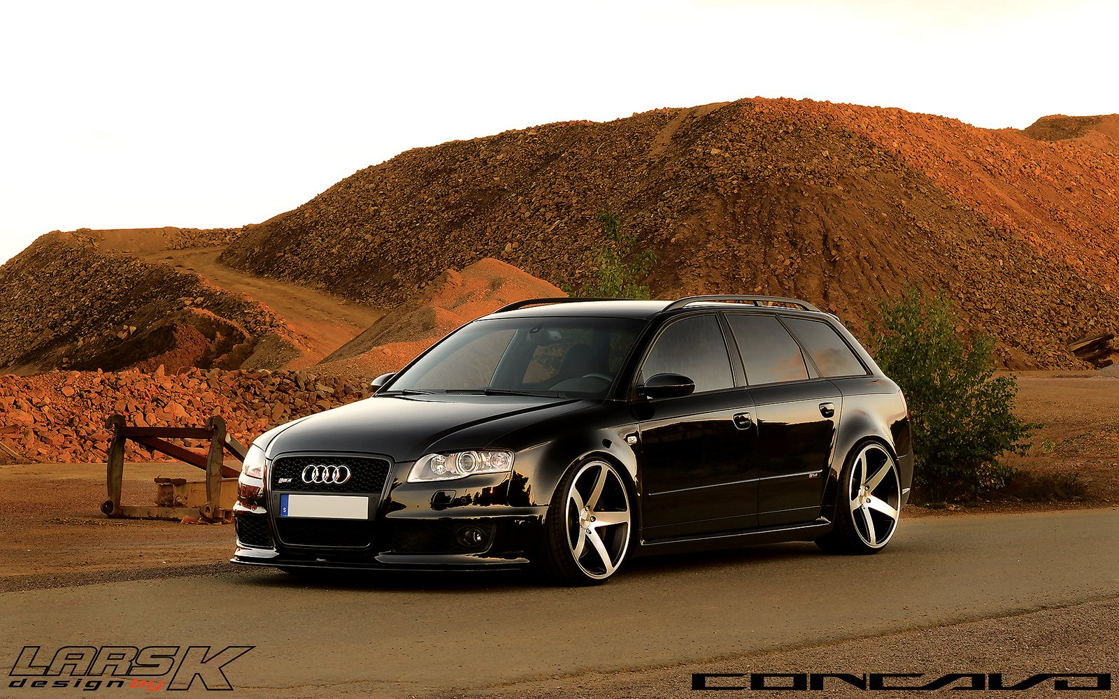Audi Rs4 Avant Tuning Concavo Wheels Cars Wallpaper