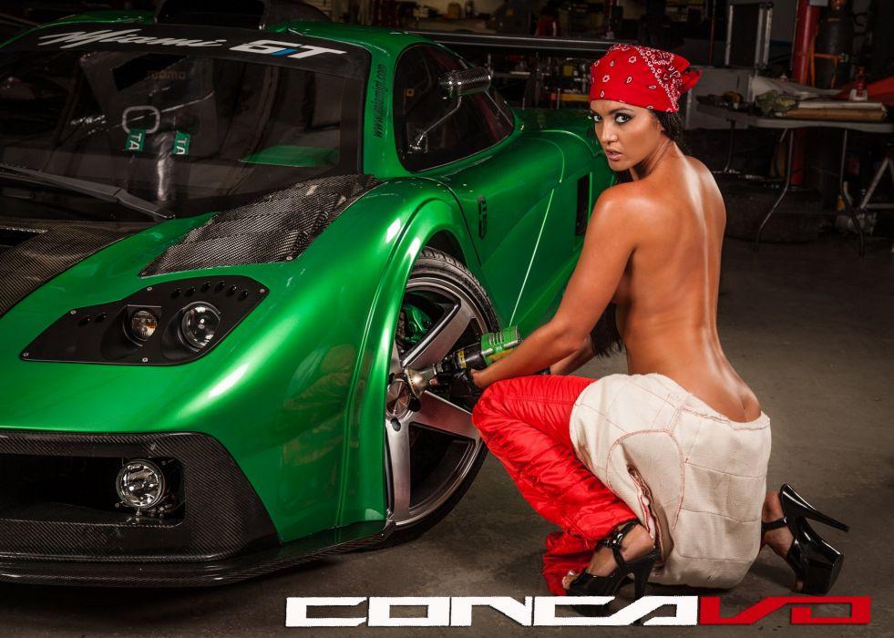 Model Girl In Drift Car