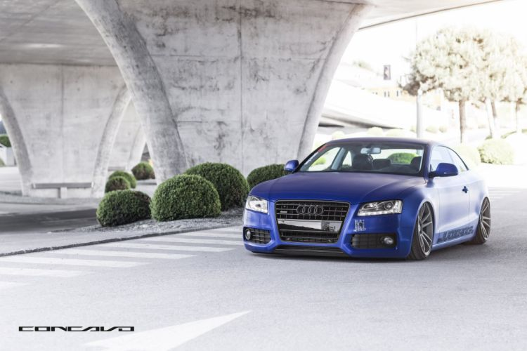 Audi A5 Wrapped Matte Brushed Tuning concavo wheels cars wallpaper