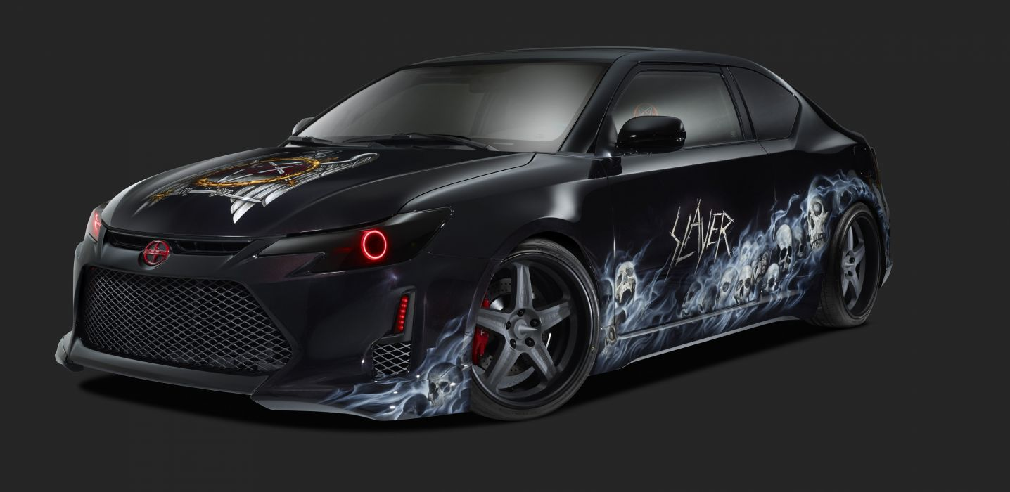 2014 Scion x Slayer Mobile Amp t-C tuning concept thrash heavy metal wallpaper