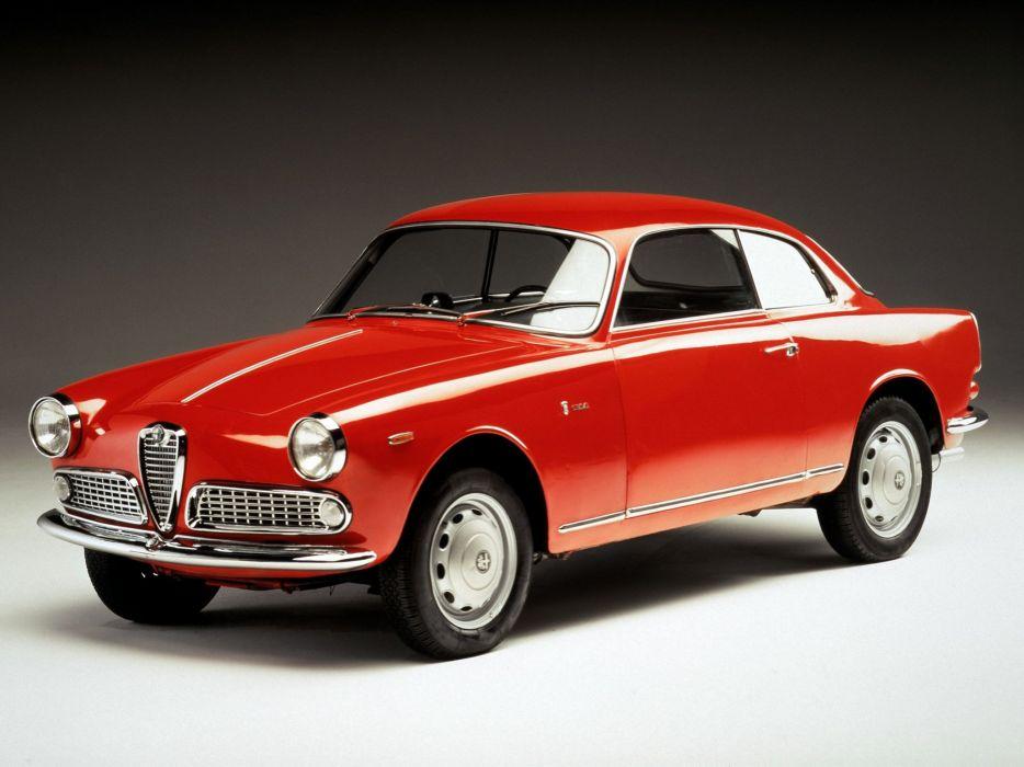 1958-62 Alfa Romeo Giulietta Sprint (750-101) classic retro wallpaper