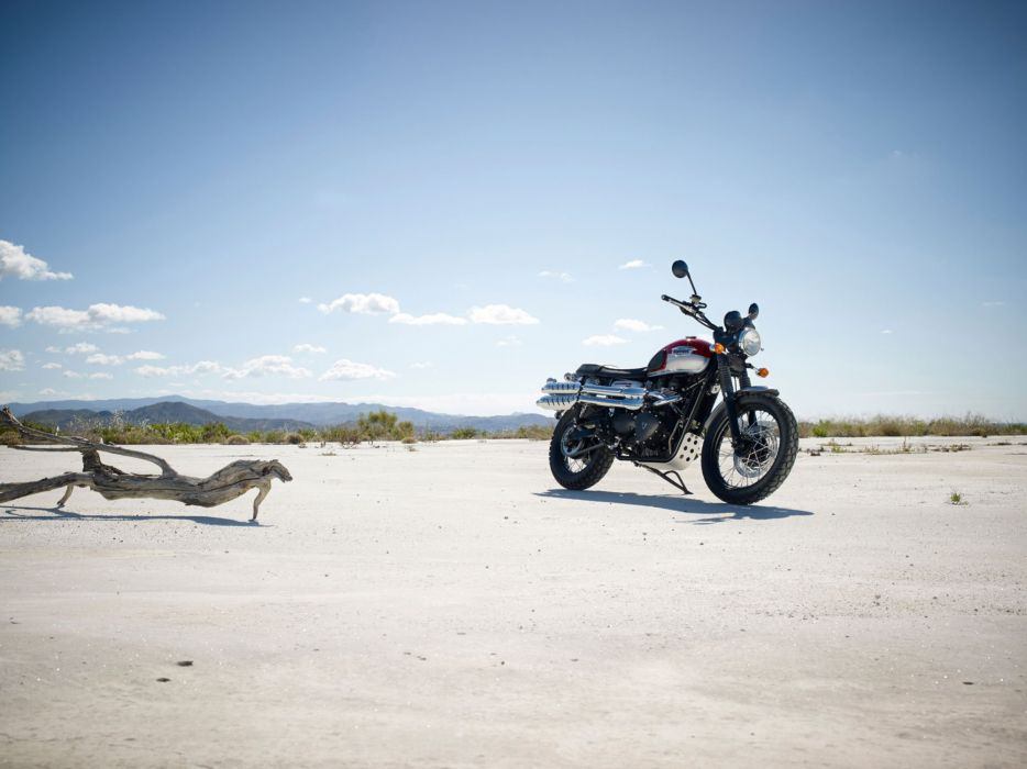 2015 Triumph Scrambler dirtbike wallpaper