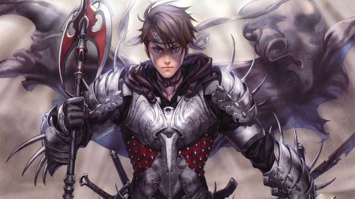 man in armor-warrior sword boy blue eyes wallpaper