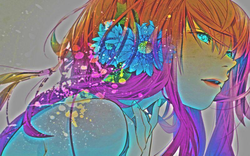 girl flower wallpaper