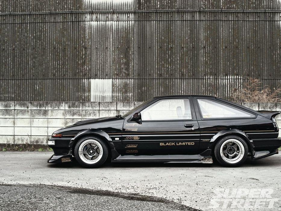 toyota corolla GT-S coupe sedan japan cars tuning wallpaper