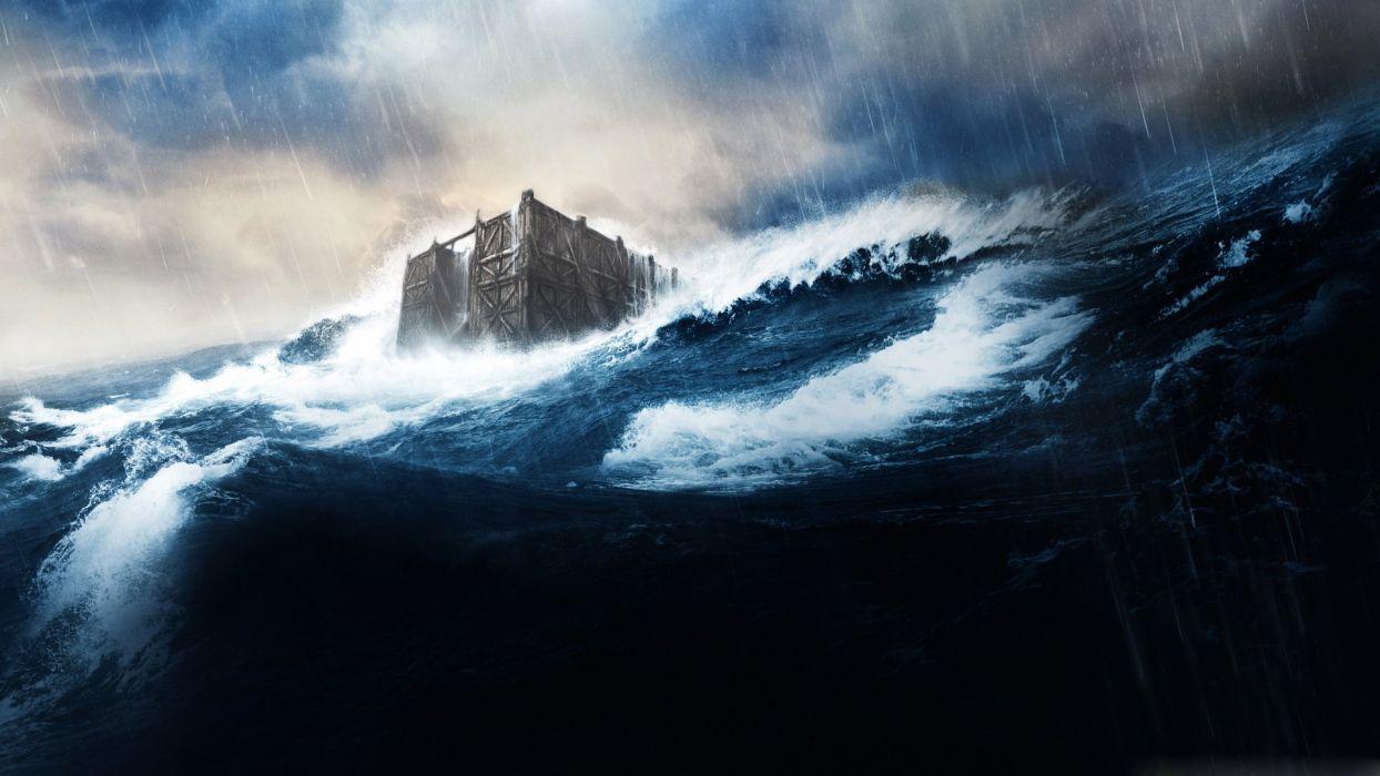 noah movie deep water dark blue rain wallpaper