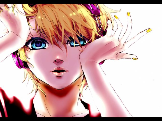 vocaloid-kagamine anime character music wallpaper