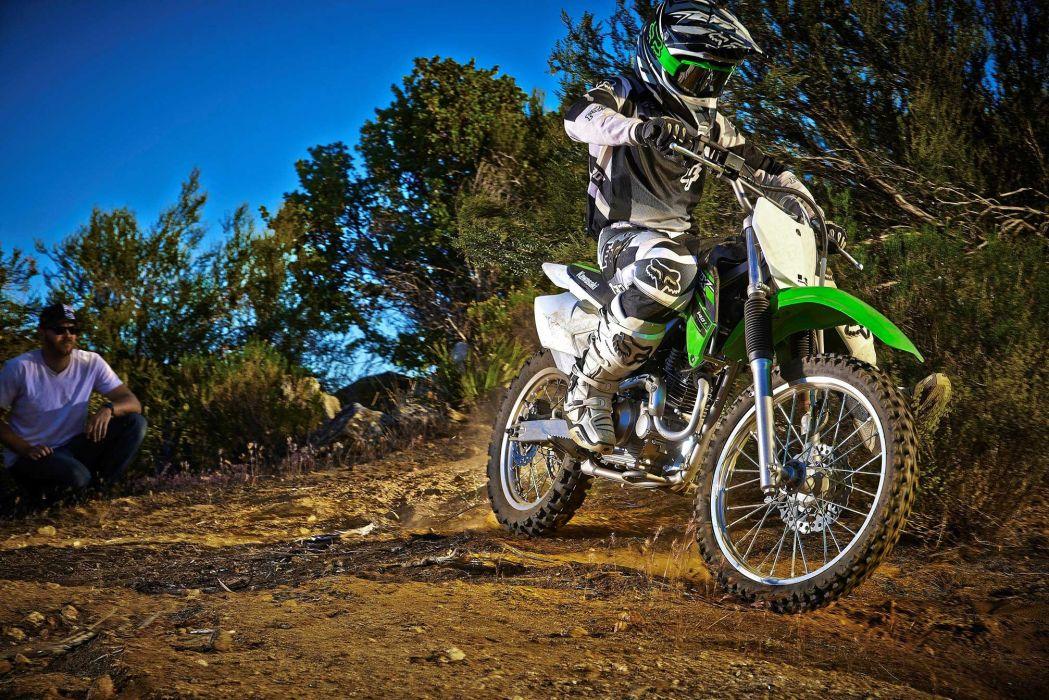 2015 Kawasaki KLX140L dirtbike offroad wallpaper